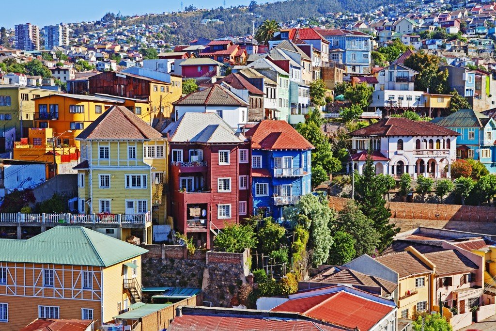Colorful buildings, Vailparaso, Chile