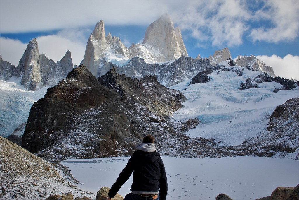 Kevin temoignage Chalten fitz roy tierra latina voyage laguna de los tres neige