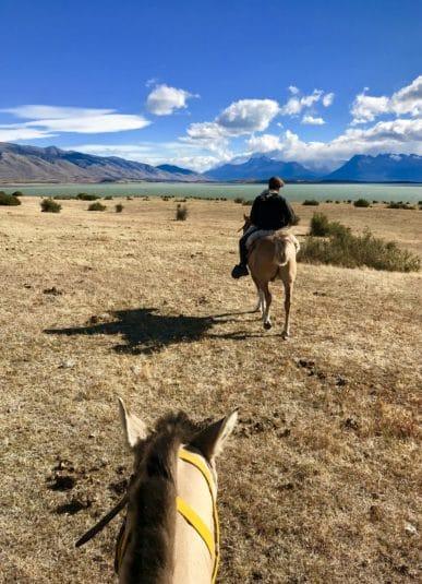 argentine patagonie estancia champs cheval balade gauchos paysage nature immersion à perte de vue montagne el calafate