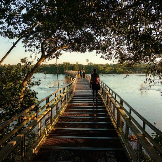 argentine brésil parc national chute iguazu nature luxuriante rio fleuve unesco patrimoine pont passerelle jungle immersion