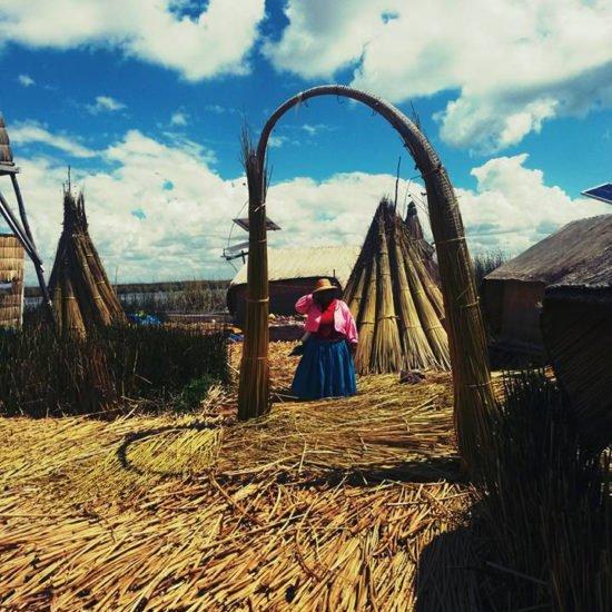 pérou lac titicaca iles llachon habitants