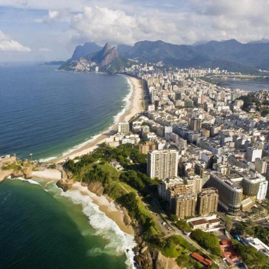 Bresil Rio de Janeiro panorama copacabana plage