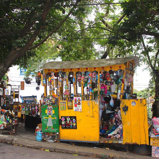 Santa Teresa Bresil Rio de Janeiro echoppe marché
