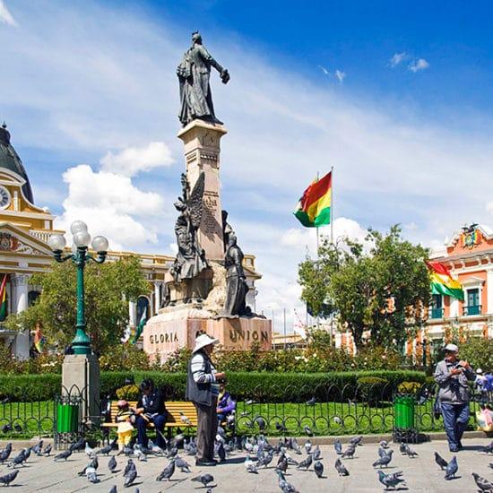 bolivie la paz plaza murillo monument architecture coloniale