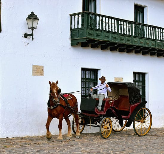 colombie villa de leyva carrosse cheval