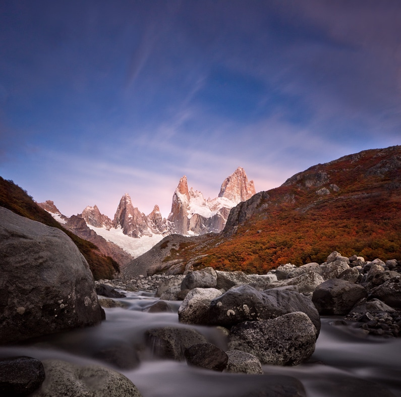 argentine patagonie parc national glaciers el chalten fitz roy paysage nature immersion montagne sauvage photo