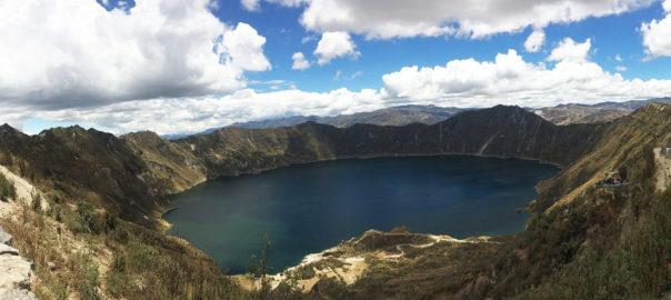 Quilotoa lagune Equateur