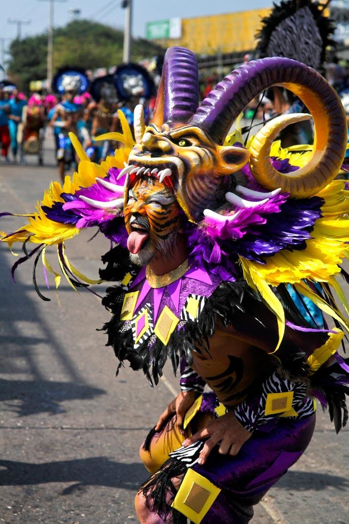 Colombie Carnaval de Barranquilla danseur