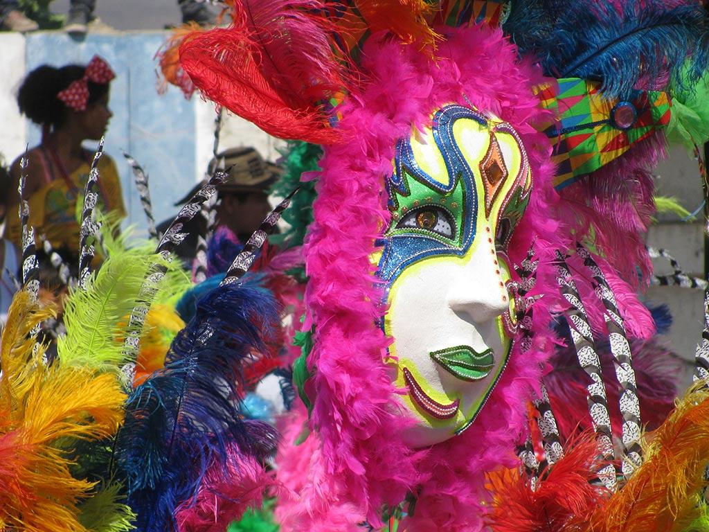 Colombie Carnaval de Barranquilla masque
