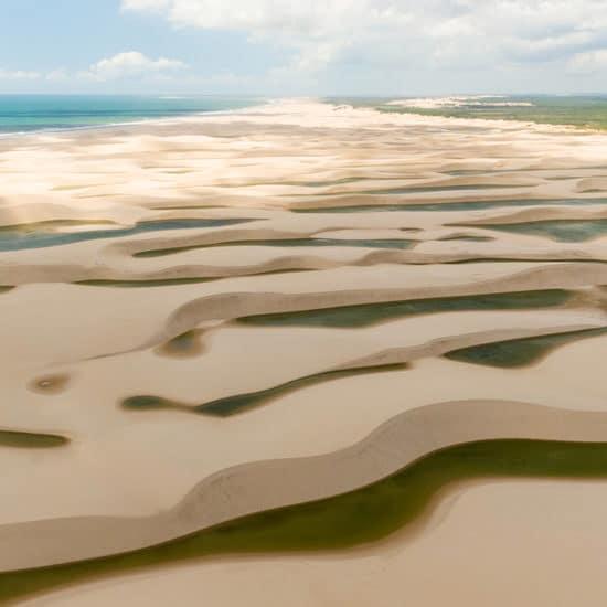 Rio Parnaiba Bresil delta sable