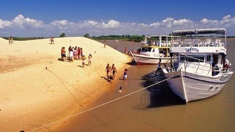 Parnaiba Bresil delta bateau plage