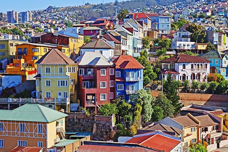 Chili valparaiso maison coloniale colorée
