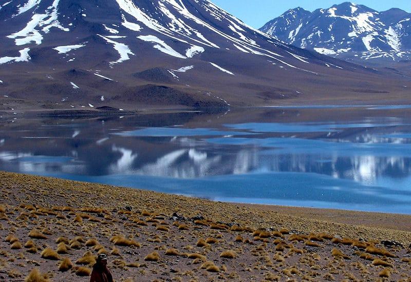 Chili altiplano laguna lac miscanti Miñiques cerro montagne atacama