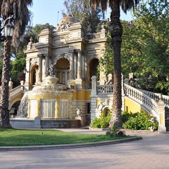 Chili santiago parc santa lucia style colonial