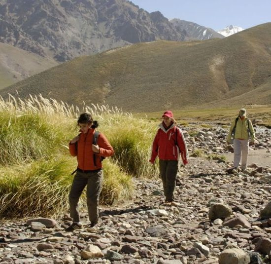 argentine mendoza montagne trek trekking nature aconcagua rivière immersion excursion