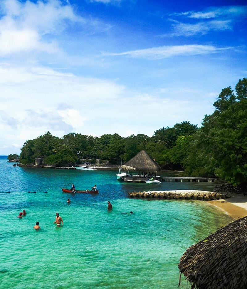 colombie iles baru plage mer turquoise baignade