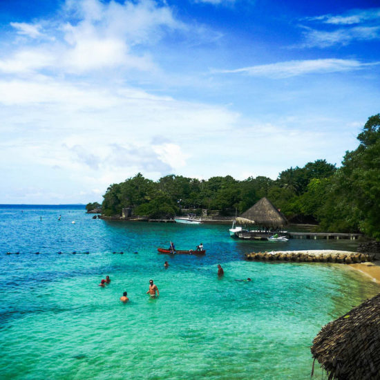 colombie iles baru plage mer turquoise