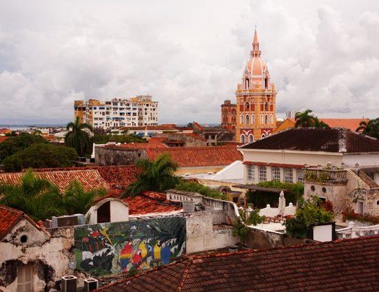 colombie carthagene église vue sur les toits