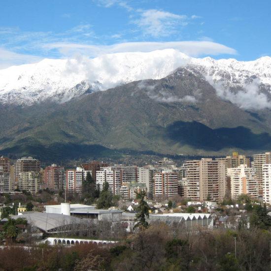 Chili Santiago ville Montagne panorama