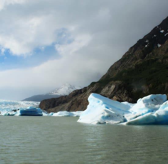 Chili torres del paine patagonie montagne lac nature glacier