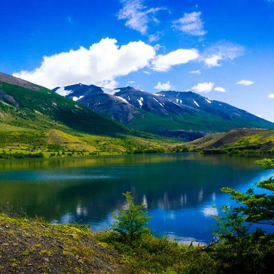Chili torres del paine patagonie montagne lac nature