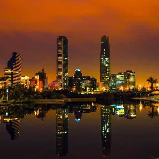 Chili Santiago capitale nuit