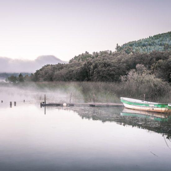Chili contulmo lac forêt lac lanalhue bateau