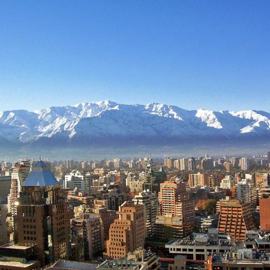 Chili Santiago Montagnes centre ville panorama