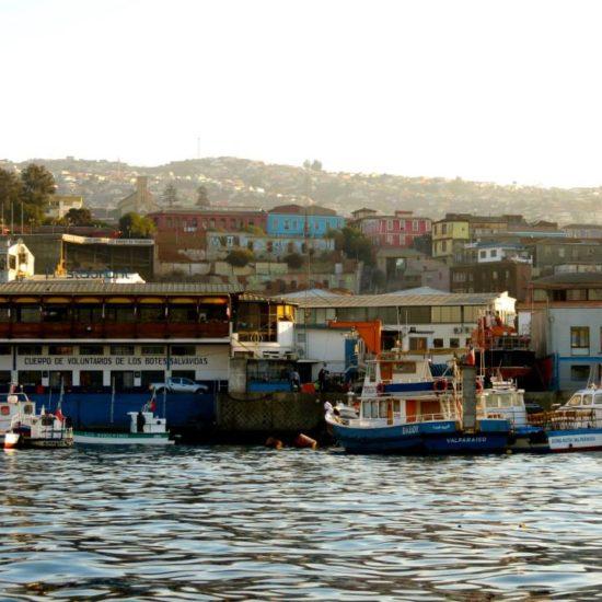 Chili valparaiso port bateaux pêche