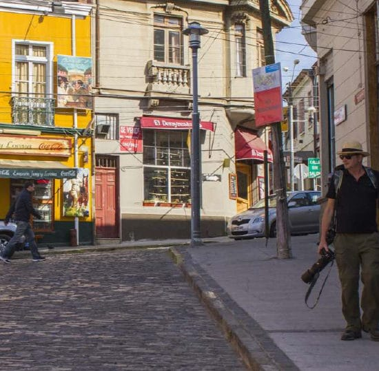 Chili valparaiso centre ruelle