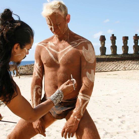 Chili Ile de Paques plage moaï tradition tatouage rapa nui