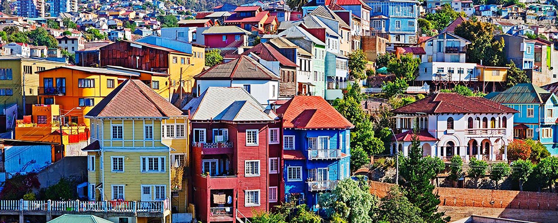 valparaiso chili maisons colorées