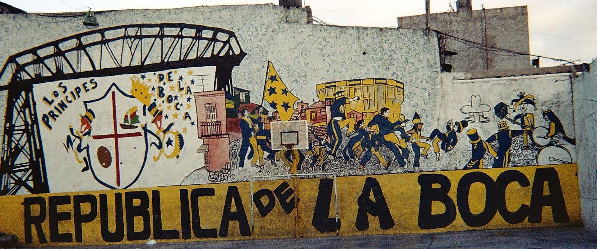 argentine buenos aires peinture graffiti art de rue republica de la boca terrains basket panier urbain