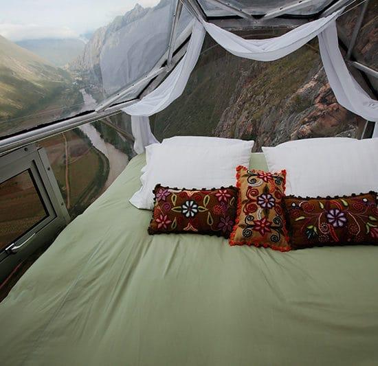 hébergement atypique écologique skylodge vallée sacrée pérou cuzco