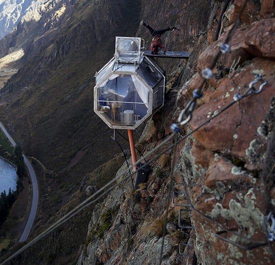 hébergement atypique écologique skylodge vallée sacrée pérou cuzco immersion