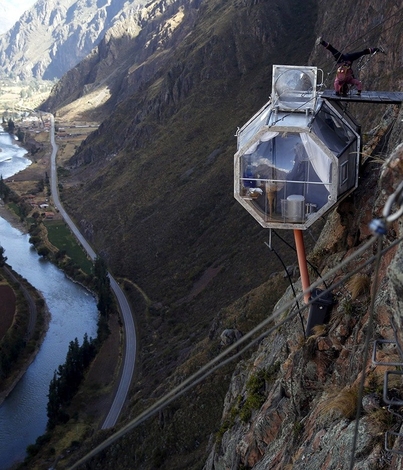 skylodge hébergement atypique vallée sacrée pérou cuzco immersion