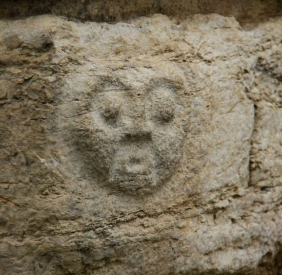 pérou chachapoyas art natif ruines kuélap tête visage