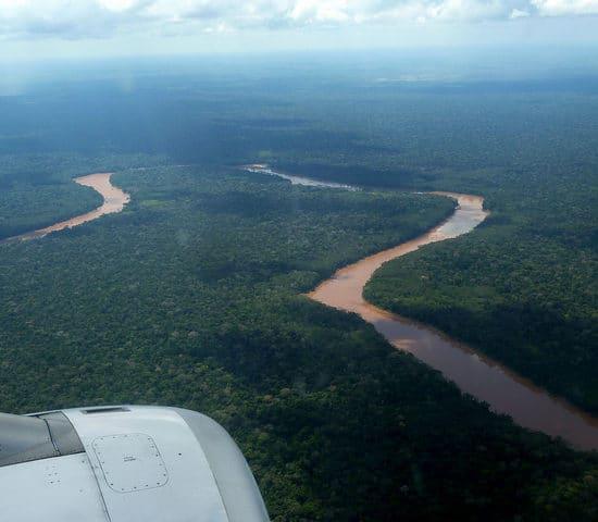 pérou puerto maldonado vue du ciel forêt amazonienne