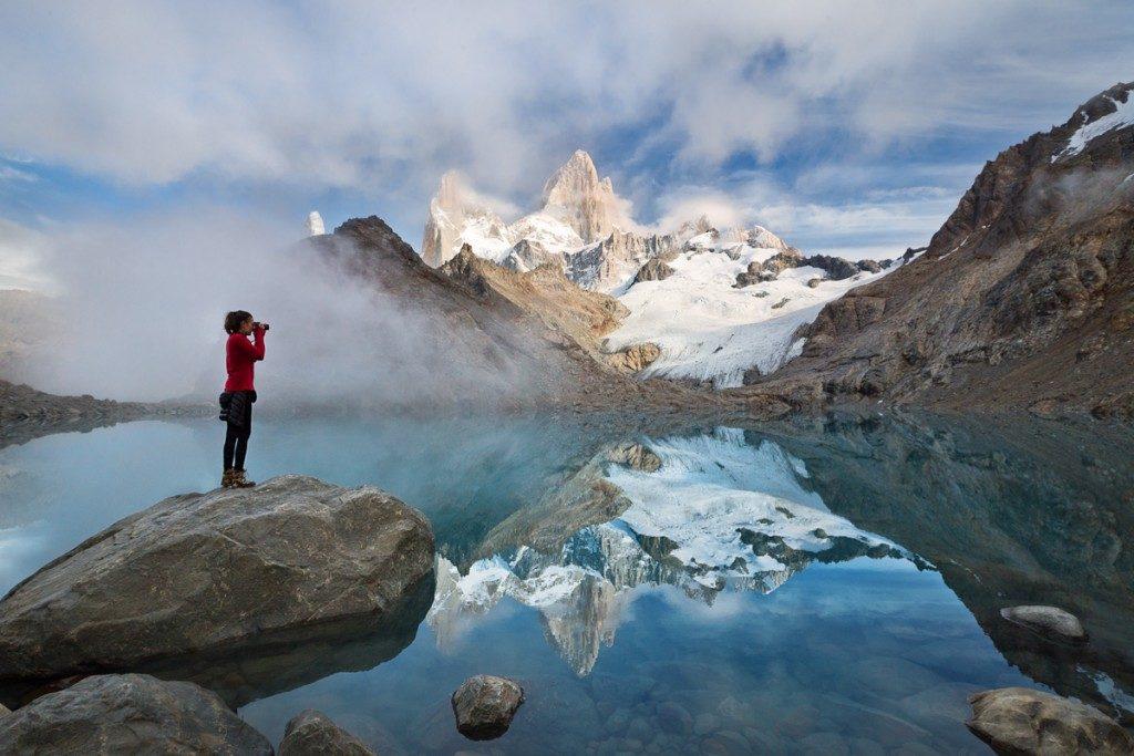 argentine patagonie parc national glaciers el chalten fitz roy paysage nature immersion montagne sauvage photo lac