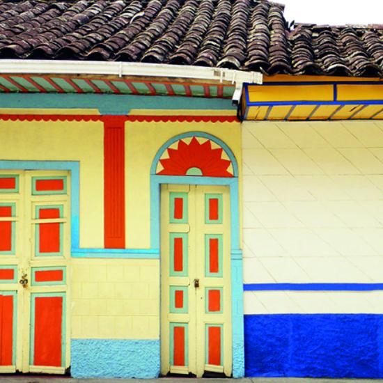 colombie quindio maisons colorées