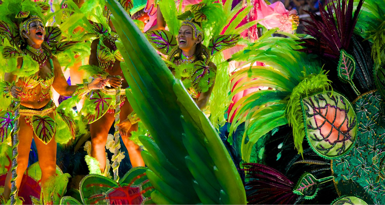 Bresil Rio de Janeiro Carnaval samba fête costumes