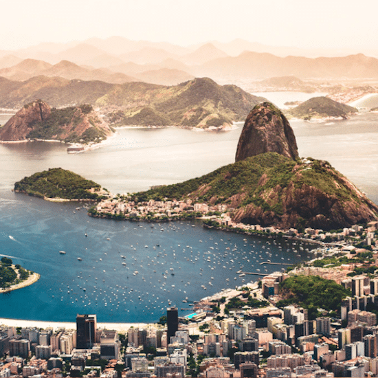 bresil Rio de Janeiro Pain de sucre baie guanabara lage