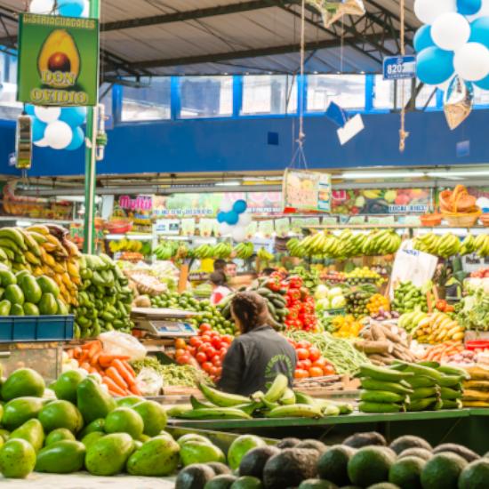 colombie bogota marché galerie