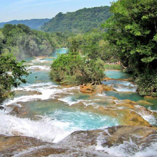 TierraLatina-Mexique-Chiapas-Agua-Azul-Turquoise-Eaux-Cascades