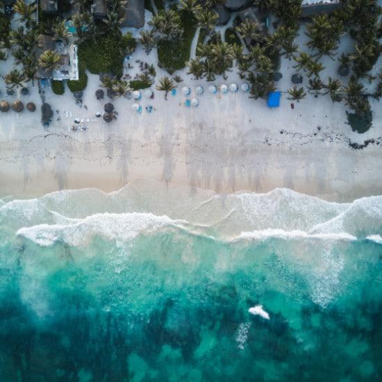 plage turquoise sable mexique voyage