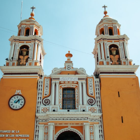 TierraLatina-Mexique-Cholula-Pyramide-Eglise-Ciudad-de-los-Angeles